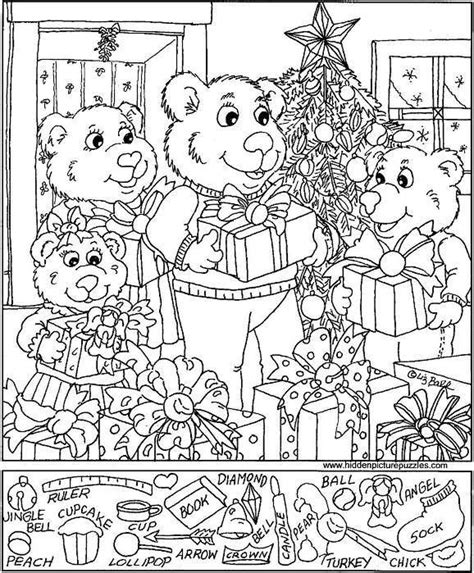 printable holiday hidden pictures free puzzles hidden pictures pinterest hidden