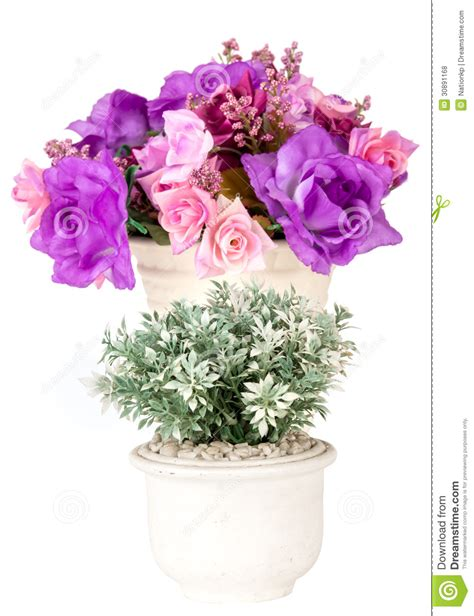 White Artificial Flowers In Vase by Artificial Flowers In White Vase Royalty Free Stock Photos