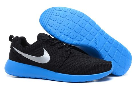 new nike roshe run mens shoes breathable for summer black
