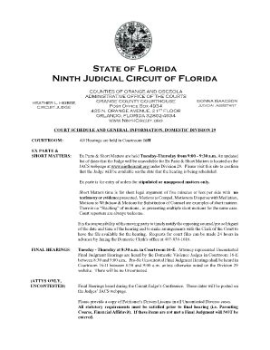 Florida Division Of Administrative Hearings Search Matter Hearings Ninth Judicial Circuit Division 29 Fill Printable