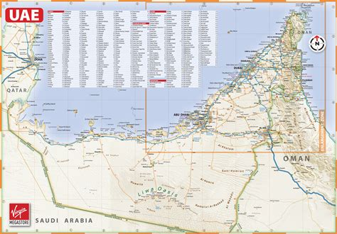 uae map with distance large detailed map of uae with cities and towns
