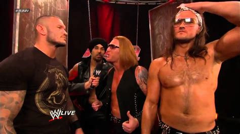 randy orton wwe backstage news rare photos randy orton and 3mb backstage segment wwe raw 07 01 13