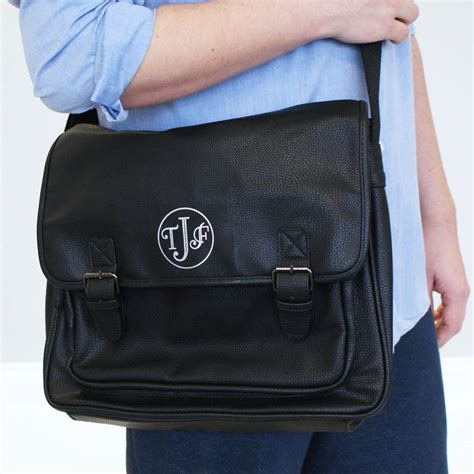 personalised monogram laptop bag by sparks clothing