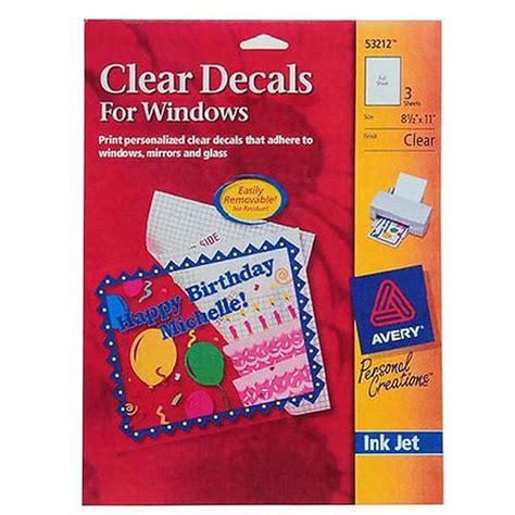 sticker print paper walmart avery clear sticker paper walmart com