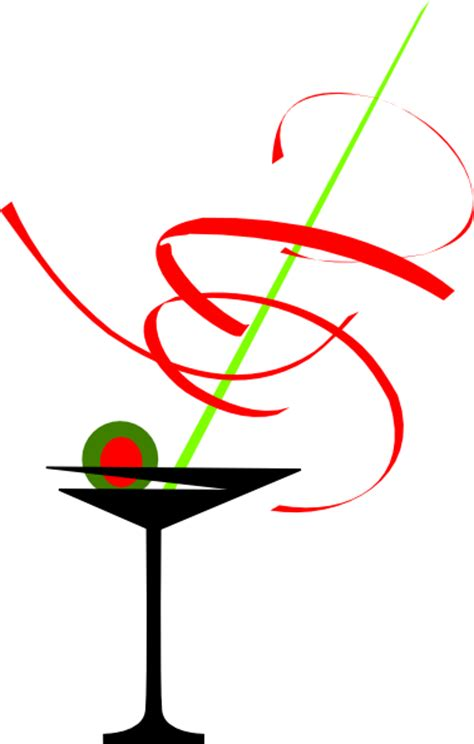 christmas martini png black and white martini glass clip art at clker com