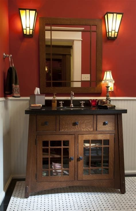 mission style bathroom mirror mission style bathroom for the home i love pinterest