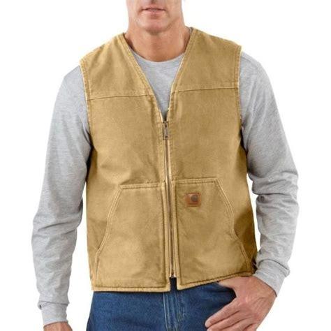 carhartt s rugged sherpa lined vest carhartt s sandstone sherpa lined rugged vest work