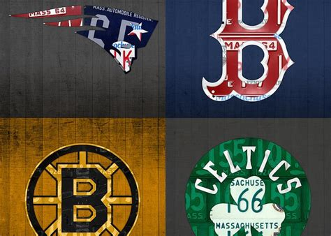 Boston Bruins Birthday Card Boston Sports Fan Recycled Vintage Massachusetts License