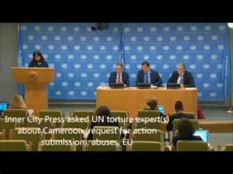 Journalist Questions by Journalist Questions United Nations On Southern Cameroon