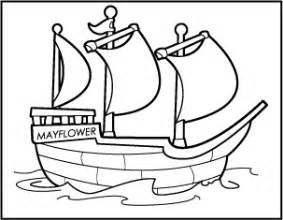 mayflower coloring page 5 best images of preschool printable thanksgiving clip