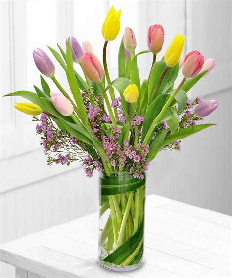 tulips arrangements using flowers to fill your home with the look and feel of