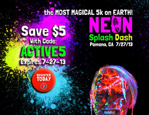color run pomona save 5 dollars on the pomona neon splash dash