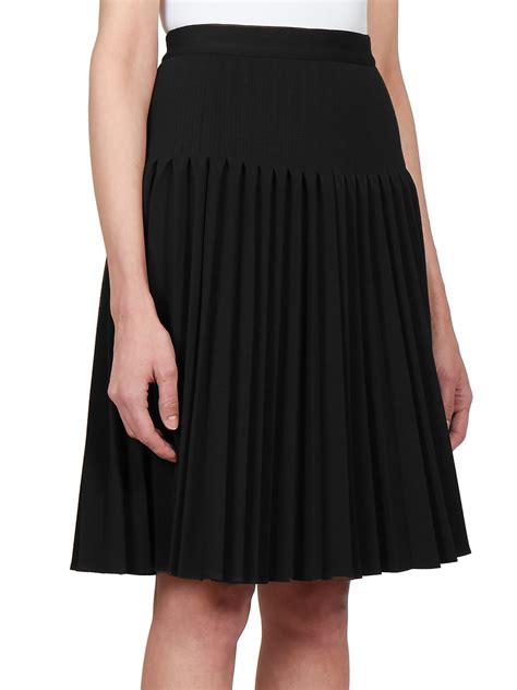 givenchy pleated knit skirt in black lyst