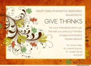 thankful fall office card patients thanksgiving
