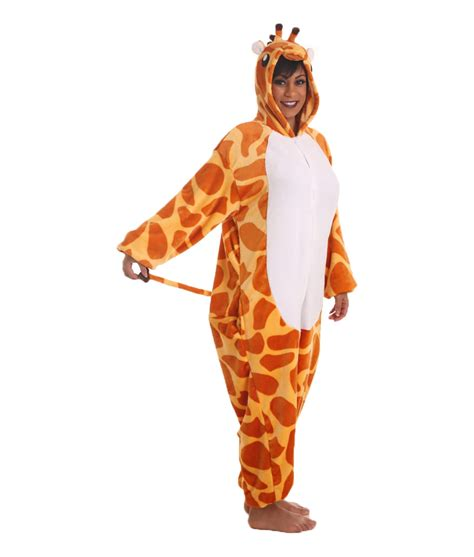 onesie for adults giraffe animal onesie stick your neck out funzee