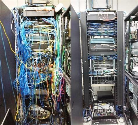 Rak Switch Hub cabling organization paling rapi di server rack data center
