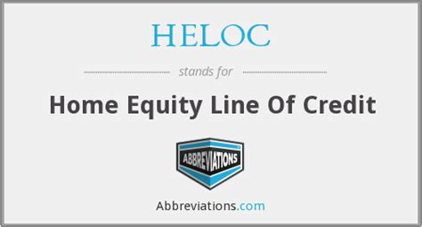 heloc home equity line of credit