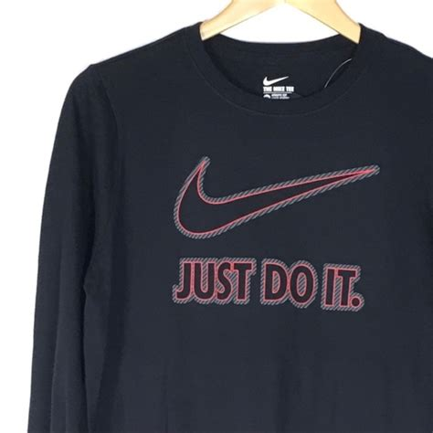 Nike Just Do It Tees 2 nike nike just do it sleeve black from