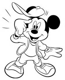 mickey mouse free printable coloring pages