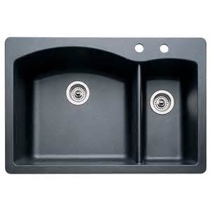 Blanco Undermount Kitchen Sink Shop Blanco Anthracite Basin Drop In Or Undermount Kitchen Sink At Lowes