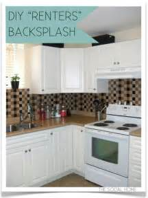 diy kitchen backsplash tile 43 clever diy ideas for renters diy
