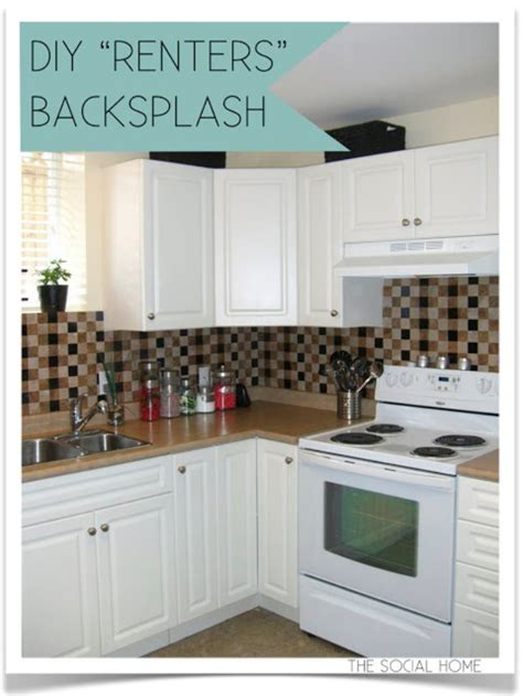 temporary kitchen backsplash 43 clever diy ideas for renters diy joy