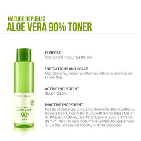 Nature Republic Aloe Vera Soothing Toner jual nature republic aloe vera 90 soothing toner 160ml