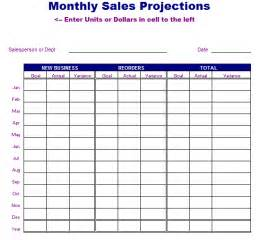 projected sales forecast template monthly sales projections template free layout format