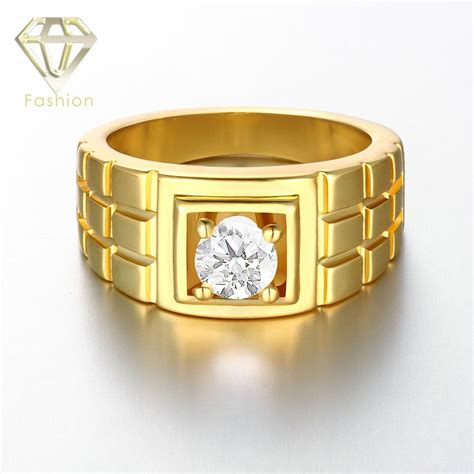 mens promise rings top quality rosewhite gold color
