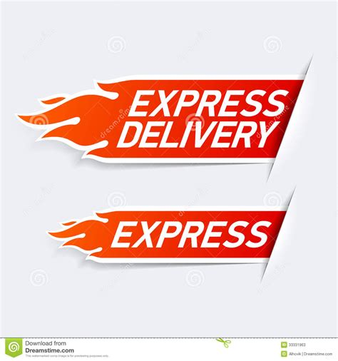 express de express delivery stock vector illustration of courier