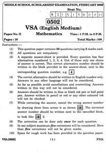 Scholarship Sle Papers For 7th Standard 2012 4th Standard Scholarship Examination Model Question Papers 2017 2018 Studychacha