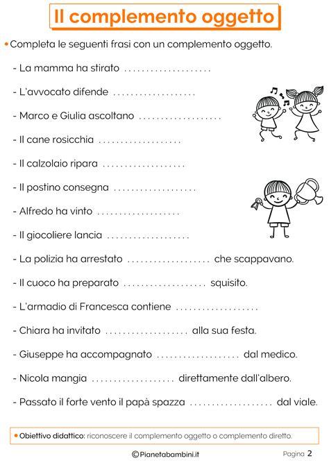 complemento oggetto interno il complemento oggetto esercizi per la scuola primaria