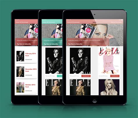 Newsstand Iphone And Ios App Ui Design Templates Magazine Template App