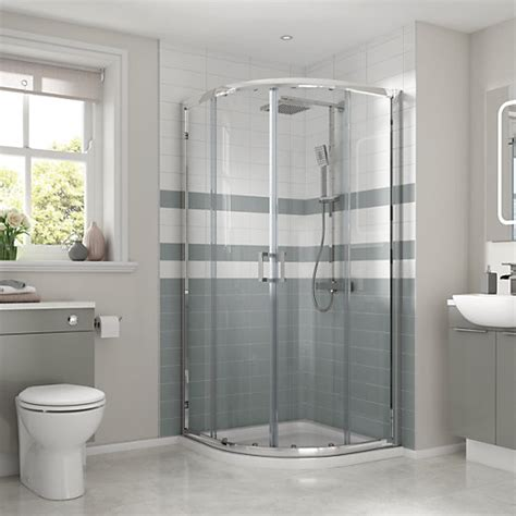 wickes bathrooms showers wickes quadrant semi frameless sliding shower enclosure