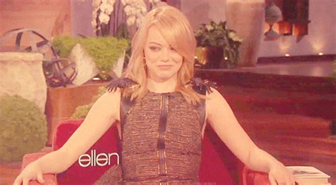 emma stone ellen laughing gif find share on giphy
