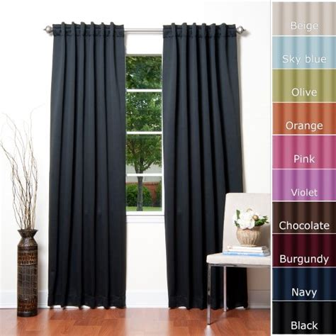 solid thermal insulated blackout curtain solid thermal insulated blackout curtain 84 l x 52 w 1