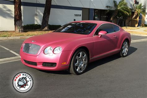 Bentley Wrapped In Avery Metallic Pink Wrap Bullys