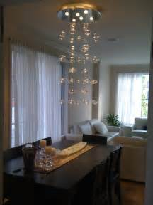 Contemporary Chandelier For Dining Room Chandelier Handblown Glass