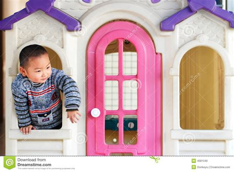 inside of a doll house a kid inside a doll house royalty free stock images image 4581049