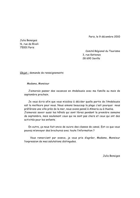 Exemple De Lettre Formelle En Français Lettre Formelle