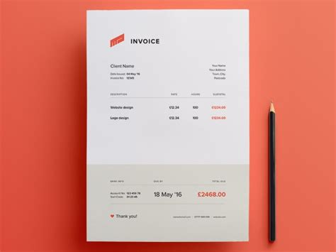 free illustrator invoice template free download