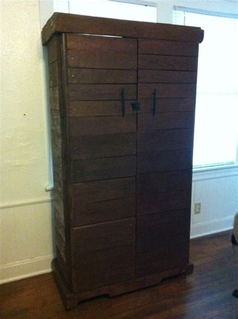 recycled wood pallets storage cabinet pallet ideas