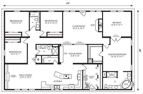 mobile home floor plan modular floor plans on pinterest modular home plans