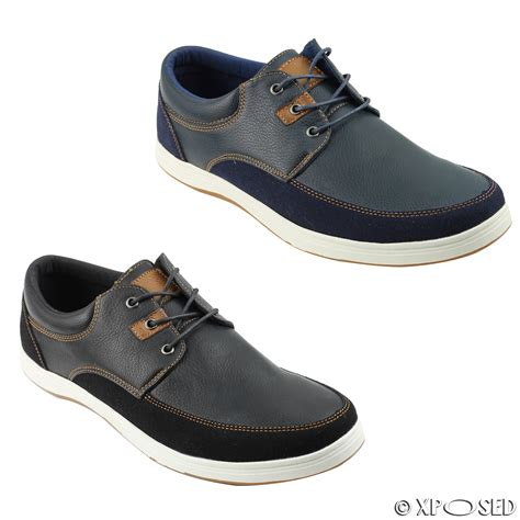 Sandal Loafers Kasual Flat Shoes Original Jk Collection Jln Putih mens leather look smart casual sneakers lace up shoes black navy size 44 45 46 ebay