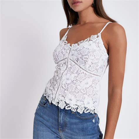 Cami Top by White Lace Cami Top Crop Tops Bralets Tops
