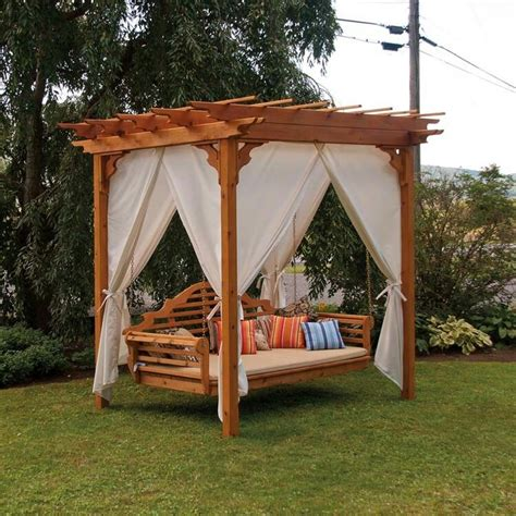 Swing Bed With Canopy 34 Best Images About Outside On Pinterest Pool Houses Backyards And Adirondack Chairs