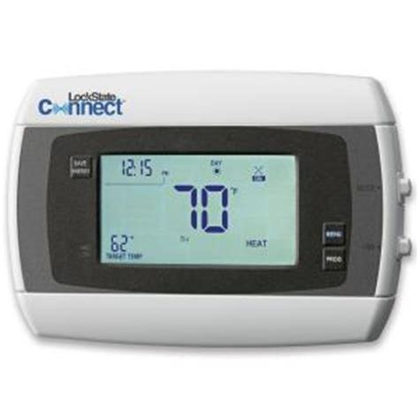 Thermostat Home Depot by Lockstate 7 Day Digital Programmable Thermostat Ls 60 The Home Depot