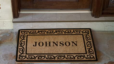 Personalised Mats Door custom door mats rub it