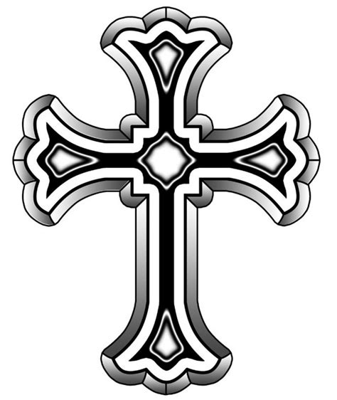 fancy cross tattoo fancy cross clipart best
