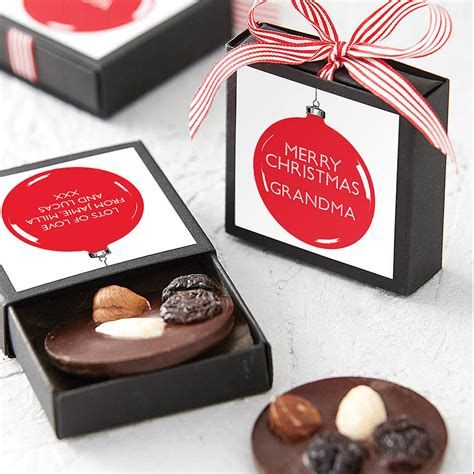 personalised chocolate christmas bauble by quirky gift